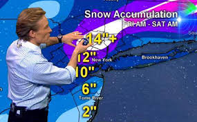 Lonnie Quinn of WCBS-TV on nor'easter snow totals