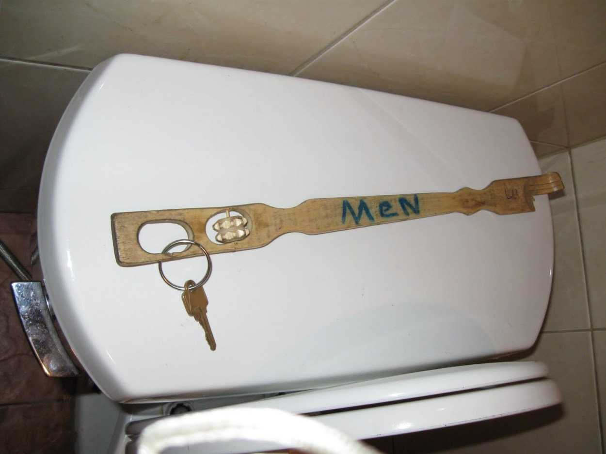 Public Bathoom Key for Men's Room