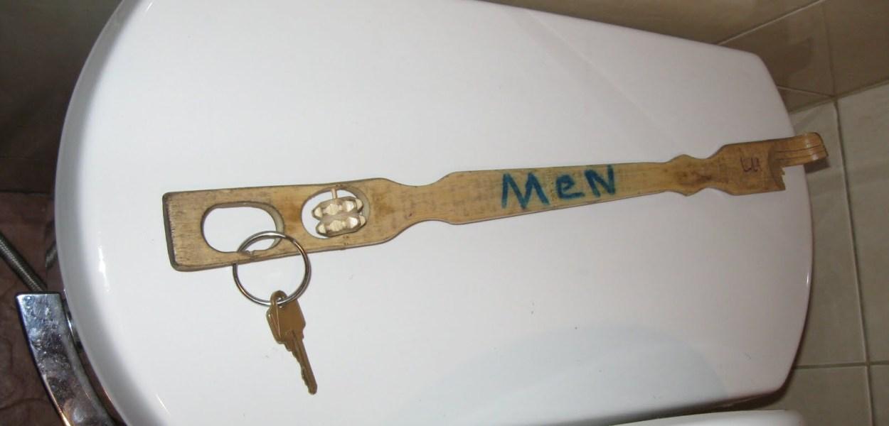 Public Bathoom Key for Men's Room