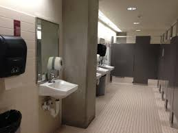 Public bathroom in office building