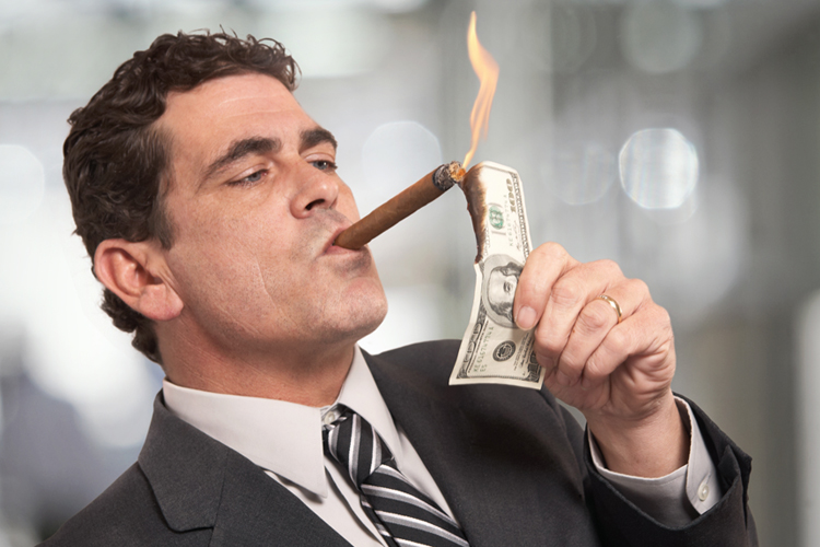Wealthy man solely caring about the almighty dollar