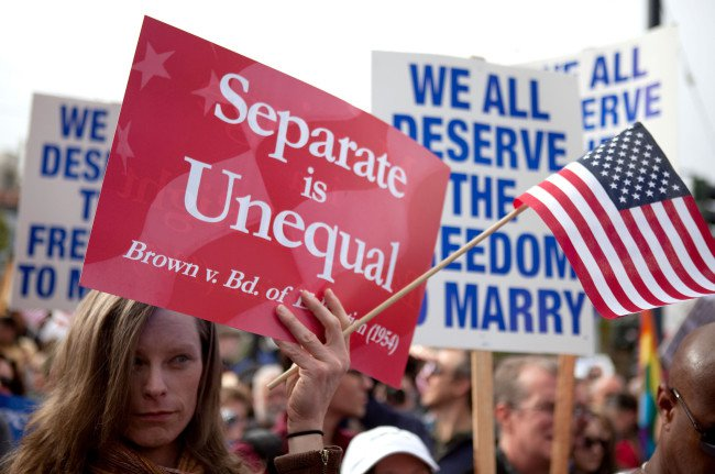 Gay Marriage Arguments to overturn Prop 8 Heard by Supreme-Court