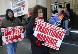 Relgious people against gay marriage