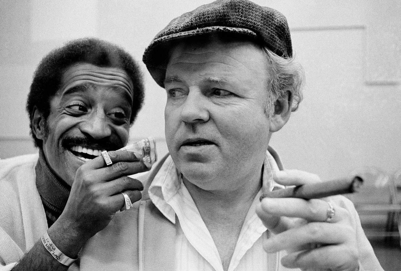 Archie Bunker and Sammy Davis Jr.