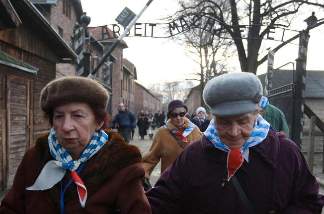 Auschwitz survivors come back to the scene of the crime